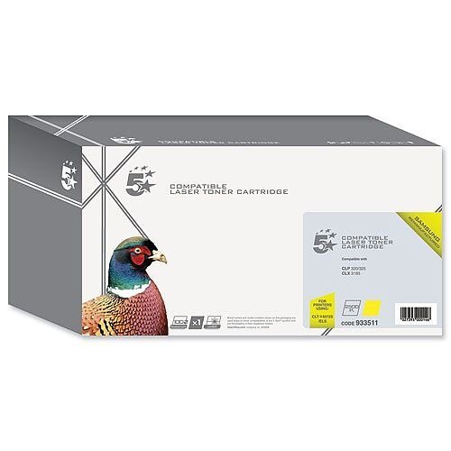 Compatible Samsung CLT-Y4072S Yellow Laser Toner Cartridge 5 Star
