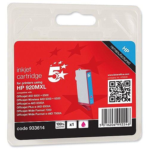 HP Compatible 920XL Magenta Inkjet Cartridge CD973AE 5 Star