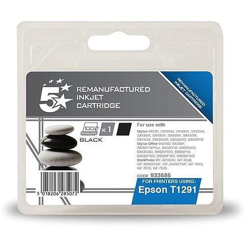 compatible epson t1291 black apple series inkjet cartridge. Black Bedroom Furniture Sets. Home Design Ideas