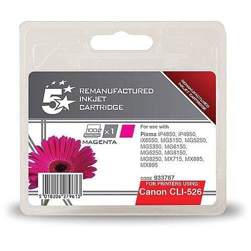 Canon Compatible CLI-526M Inkjet Cartridge Magenta 545pp 5 Star