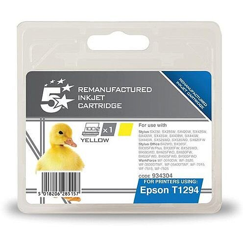 Compatible Epson T1294 Yellow Apple Series Ink Cartridge 5 Star