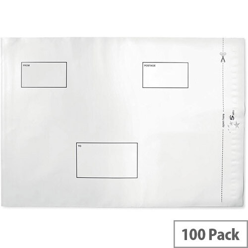 5 Star Elite Protective Envelope Polythene Opaque C3 Peel &Seal Pack 100