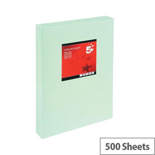 5 Star Light Green A3 Paper Multifunctional Ream-Wrapped 80gsm 500 Sheets