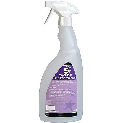 5 Star Carpet Spot and Upholstery Stain Remover 750ml