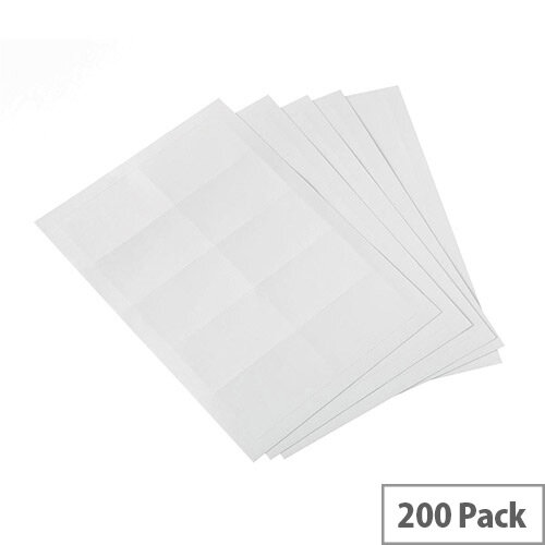 5 Star Office  54 x 90mm  Office Badges Inserts  20 Sheets of 10 Badge Inserts