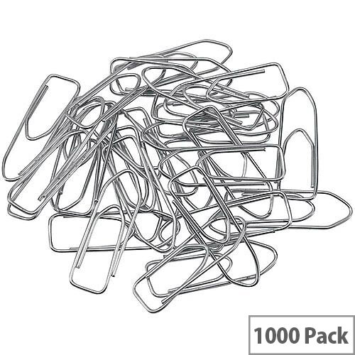 5 Star Office Paperclips Polished Steel Large Non-tear Clip Length 33mm  Pack 1000