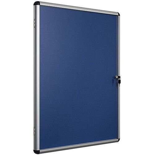 5 Star Office Noticeboard Glazed Lockable Aluminium Trim 900x600mm