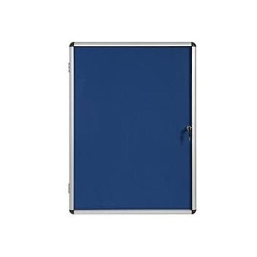 5 Star Glazed Noticeboard Display Case with Aluminium Trim Blue 1200x900mm