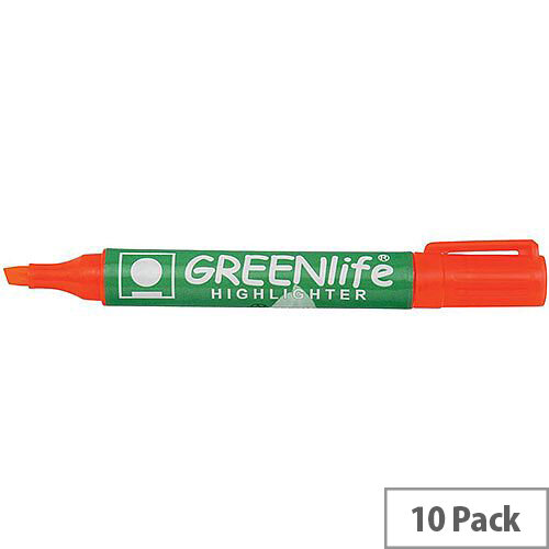 5 Star Eco Highlighter Pens 1-5mm Line Orange Pack 10