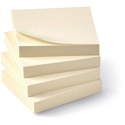5 Star Eco Recycled Notes 38x51mm Yellow  Pack 12