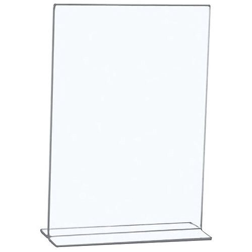 5 Star Office Sign Holder Portrait Freestanding A4 Clear. Ideal For Use In Offices, Waiting Areas, Receptions, Restaurants &More.