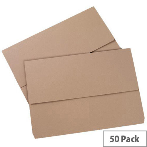 5 Star Eco Document Wallet 250gsm Foolscap Buff Pack of 50