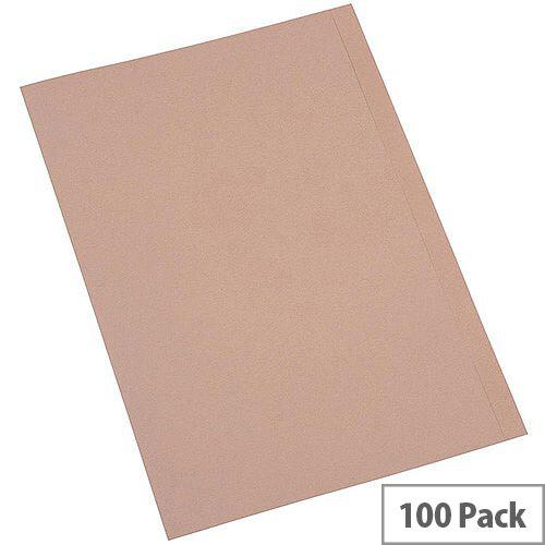 5 Star Eco Square Cut Folders A4 Kraft [Pack 100]