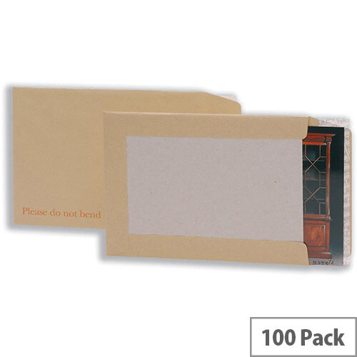 5 Star Office Envelopes Board-backed C3 Peel &Seal (Pack of 100)