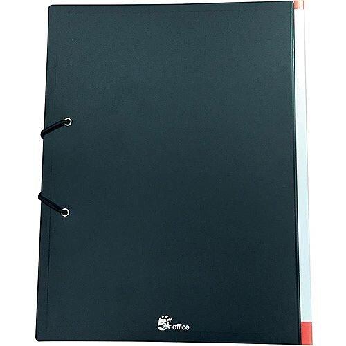 5 Star Office Display Book Hardback Cover Polypropylene 24 Pockets A4 Black