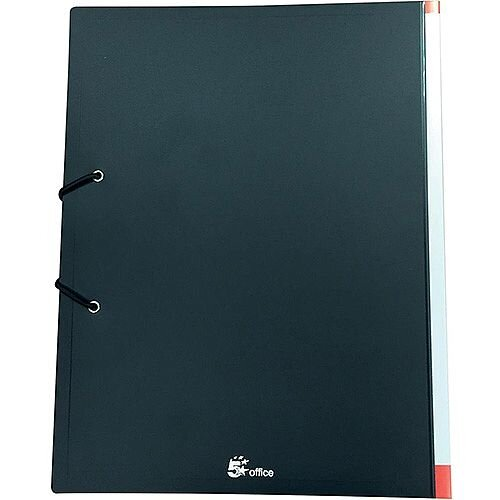 5 Star Office Display Book Hardback Cover Polypropylene 36 Pockets A4 Black