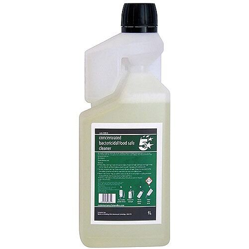 5 Star Facilities Concentrated Bactericidal Food Safe Cleaner 1 Litre