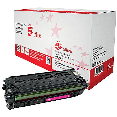 5 Star Office Remanufactured HP CF363A 508A Magenta Yield 5,000 Pages Laser Toner Cartridge