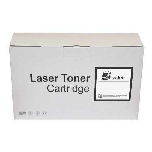 5 Star Value Remanufactured Laser Toner Cartridge Yield 5000 Pages Yellow for HP Printers Ref 940827