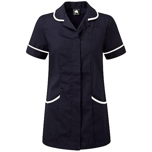 5 Star Facilities Ladies Tunic Concealed Zip Size 12 Navy/White