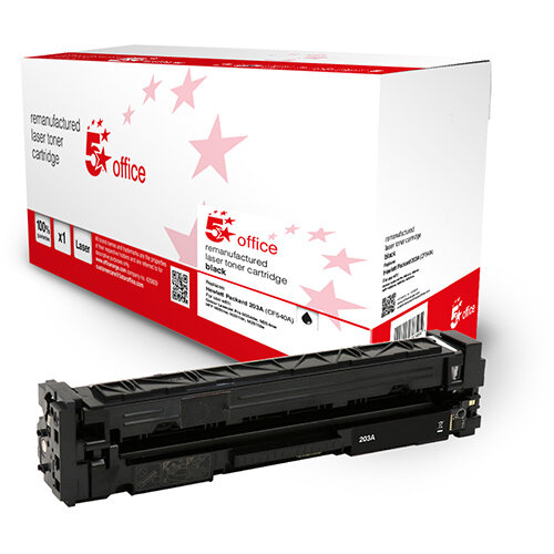 5 Star Office Remanufactured Toner Cartridge Page Life Black 1400pp [HP 203A CF540A Alternative]