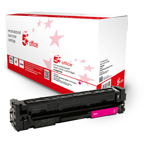5 Star Office Remanufactured Toner Cartridge Page Life Magenta 1300pp [HP 203A CF543A Alternative]