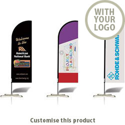 Feather Flag Banner 94633 - Customise with your brand, logo or promo text
