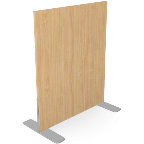 Ashford Floor Standing Fixed Screen 1200mm High 1000mm Wide Beech