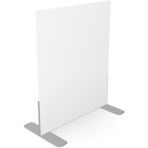 Ashford Floor Standing Fixed Screen 1200mm High 1000mm Wide White