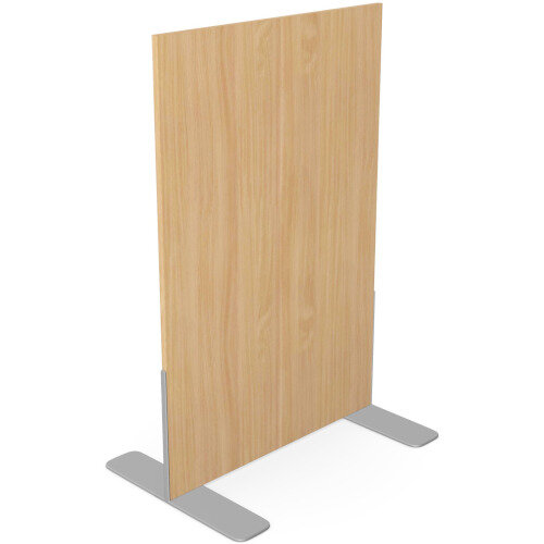 Ashford Floor Standing Fixed Screen 1200mm High 800mm Wide Beech