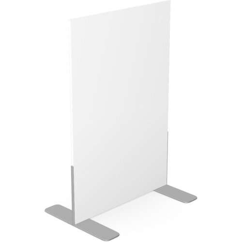 Ashford Floor Standing Fixed Screen 1200mm High 800mm Wide White