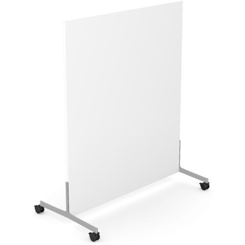 Ashford Floor Standing Mobile Screen 1200mm High 1000mm Wide White