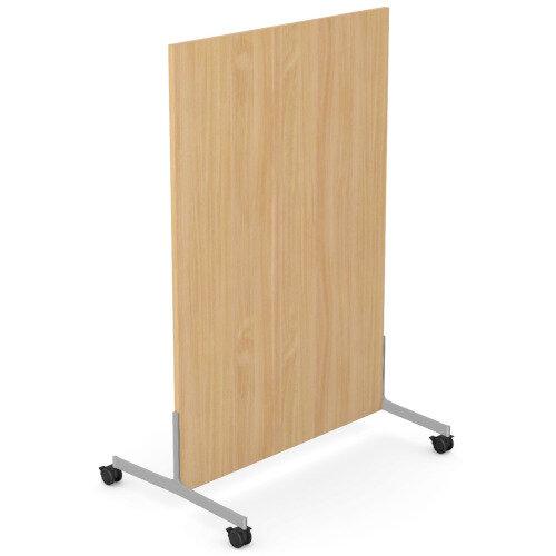 Ashford Floor Standing Mobile Screen 1200mm High 800mm Wide Beech