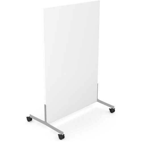 Ashford Floor Standing Mobile Screen 1200mm High 800mm Wide White