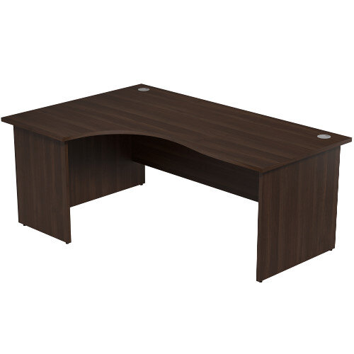 Radial Office Desk Panelled Left Hand W1800xD1200xH725mm Dark Walnut Ashford