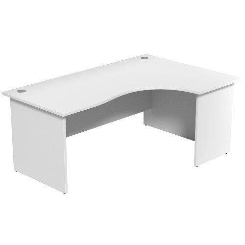 Radial Office Desk Panelled Right Hand W1800xD1200xH725mm White Ashford