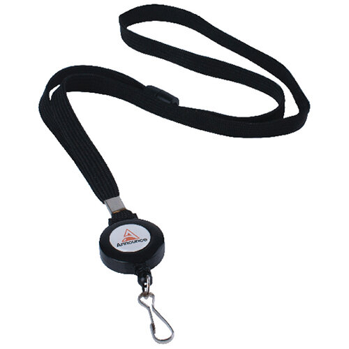 Announce Textile Lanyard with Badge Reel Pack of 10 AA03627