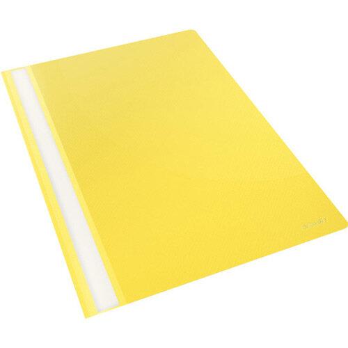 Esselte VIVIDA Plastic Flat Report Files A4 Yellow Pack of 25