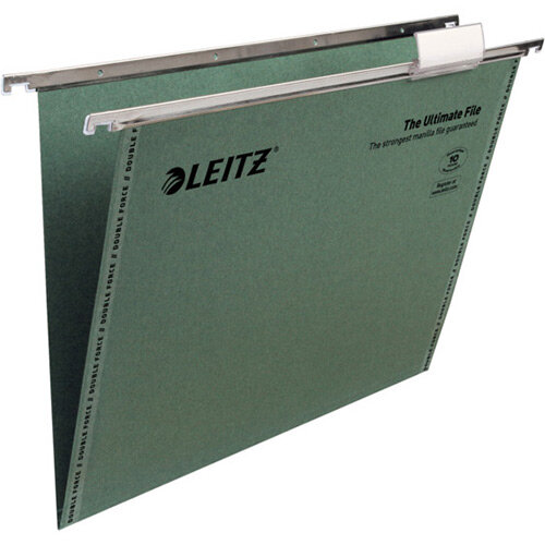 Leitz Ultimate Clenched Bar Suspension Files A4 V-Base Green Pack of 50