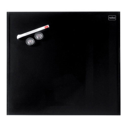 Nobo Diamond Glass Magnetic Whiteboard - Retail Pack 300x300mm Black