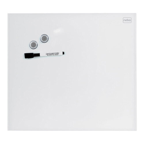 Nobo Diamond Glass Magnetic Whiteboard - Retail Pack 450x450mm White