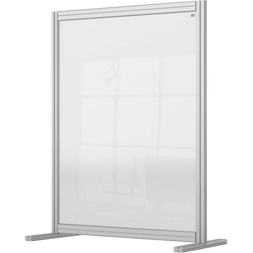 Nobo Premium Plus Clear Acrylic Protective Desk Divider Screen Modular System 800x1000mm