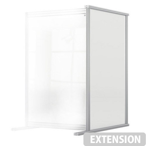 Nobo Premium Plus Clear Acrylic Protective Desk Divider Screen Modular System Extension 600x1000mm