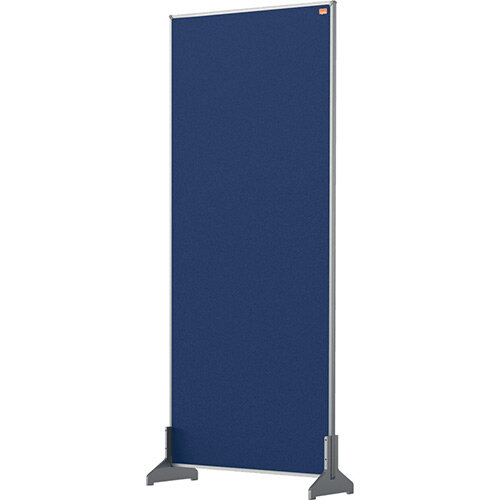Nobo Impression Pro Desk Divider Screen Felt Surface 400x1000mm Blue
