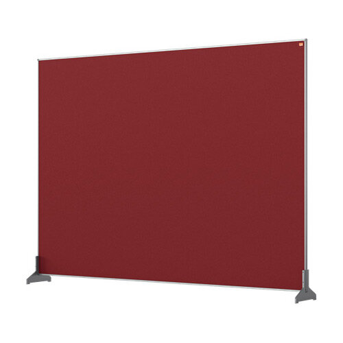 Nobo Impression Pro Desk Divider Screen Felt Surface 1400x1000mm Red