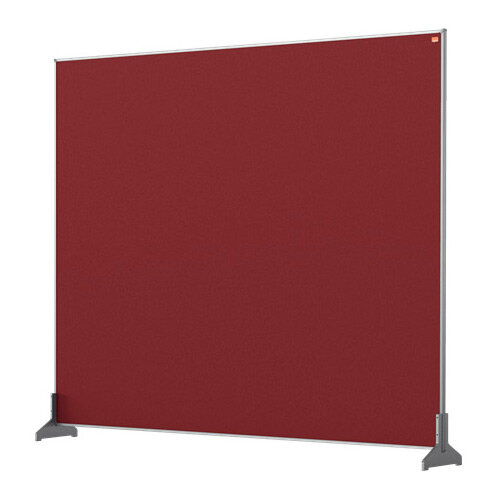 Nobo Impression Pro Desk Divider Screen Felt Surface 1200x1000mm Red
