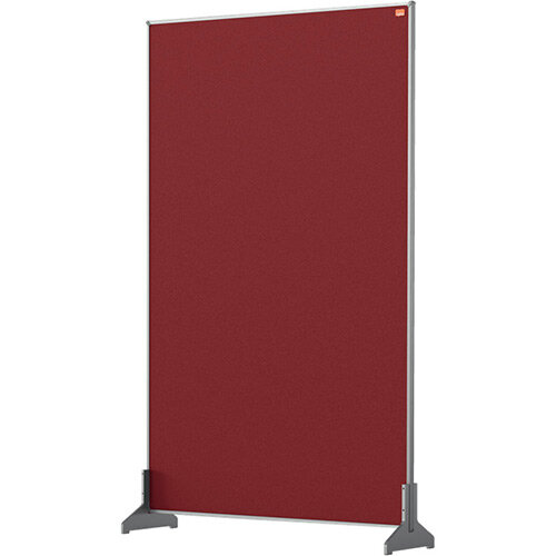 Nobo Impression Pro Desk Divider Screen Felt Surface 600x1000mm Red