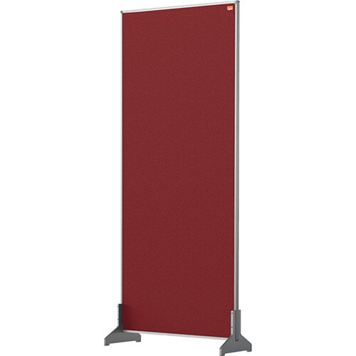 Nobo Impression Pro Desk Divider Screen Felt Surface 400x1000mm Red