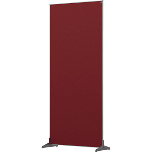 Nobo Impression Pro Free Standing Room Divider Screen Felt Surface 800x1800mm Red