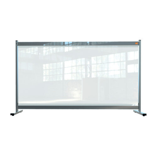 Nobo Premium Plus Clear PVC Protective Desk Divider Screen 1470x860mm